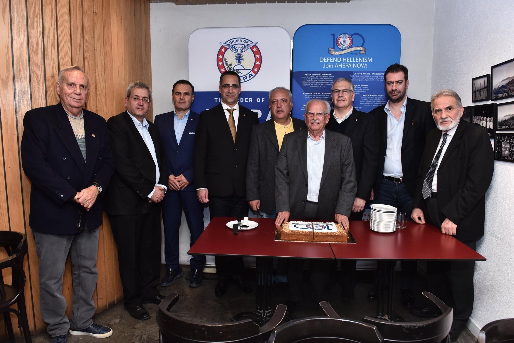Σε κλίμα αισιοδοξίας για το 2020 έκοψε τη βασιλόπιτά της η οργάνωση AHEPA Κύπρου