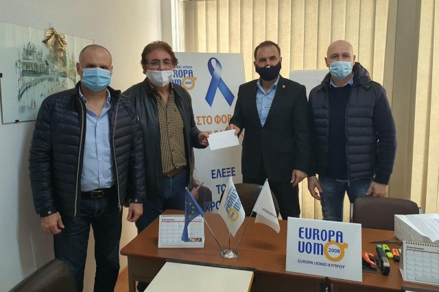 AHEPA Cyprus District 27 supports Europa Uomo Cyprus by donating 1,000 euro towards their noble cause