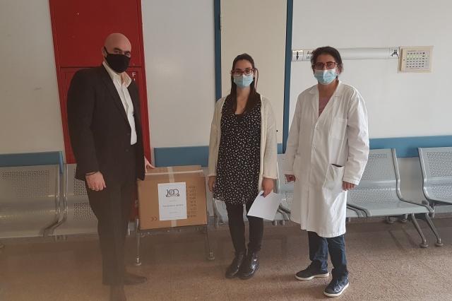 Δωρεά μασκών στο Γενικό Νοσοκομείο Αμμοχώστου