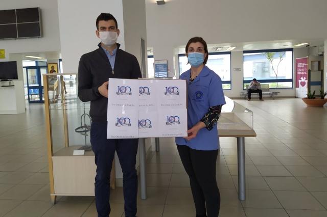 Δωρεά μασκών στο Γενικό Νοσοκομείο Λευκωσίας